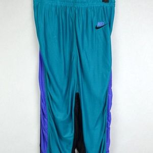 Vintage Nike Running Tights Pants Teal Black Large